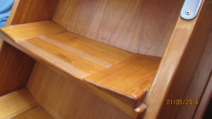 Joinery detail companion way