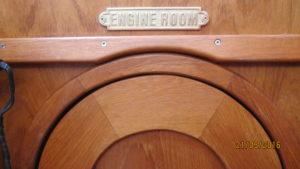 joinery detail of engine room access door top